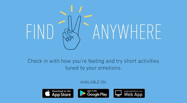 stop, breathe, think app screenshot