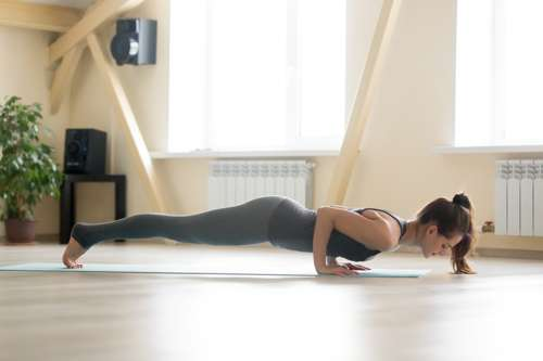 Chaturanga low plank pose