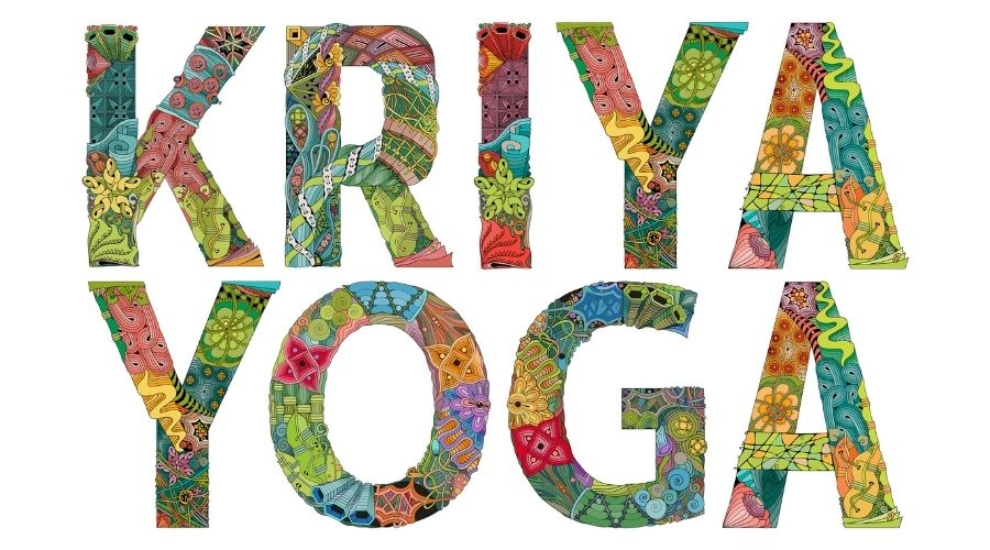 kriya yoga words on white background