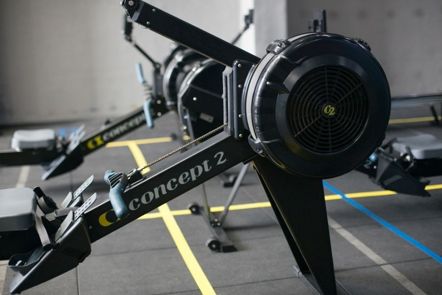 Concept2 rowing machine review - rower up close