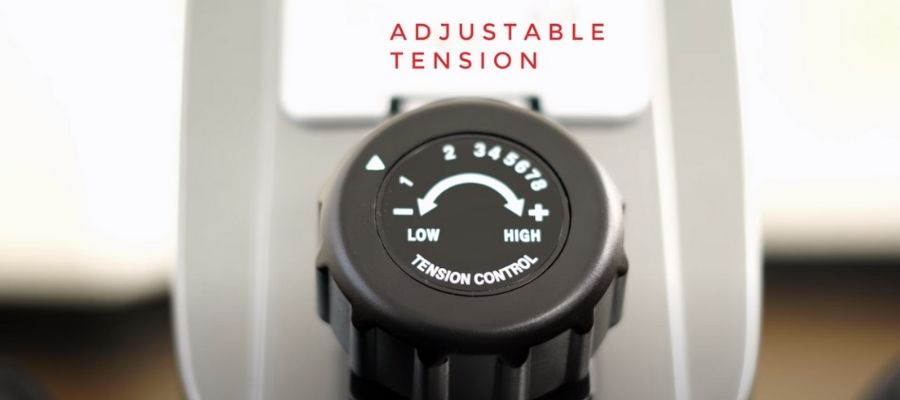 magnetic resistance knob on sunny health and fitness rower